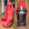 Bride Lowmax Red Carbon Fiber Racing Seat