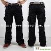 Men's Wrinkle Free Pockets Casual Long Cargo Pants