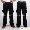 Men's Wrinkle Free Pockets Casual Long Cargo Pants