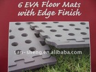 EVA hole interlocking camping mat, eva, eva mat, garden mat, outside mat,growing mat