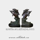 Beautiful Cast Bronze Dolphin Sculpture