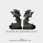 Beautiful Cast Bronze Dolphin Sculpture