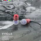 Hot-selling colorful metallic earphones for Samsung, Nokia, iPhone