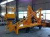 High altitude repair equipment 10.5 M Diesel Engine &380V Electricity double used aerial folding work platform