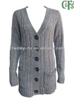 ladies cable knit long cardigan