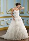 Luxurious Silver Crystal Wedding Dress 01561