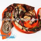 2012 newest brand designer cotton scarf pashmina with roses JSWJ0137