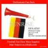 football fan horn with national flag