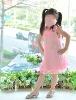 Beautiful children girls' Summer cool silk princess dress