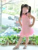 Beautiful children girls' Summer cool silk princess dress