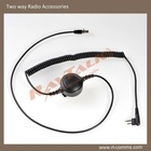 mini XLR Cable with in-Line PTT for two way radio