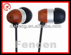 SUPER BASS WOODEN EARBUDS FOR IPHONE 5 HS-W09