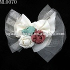 chic chiffon mini flower with mesh for children's clothing accessories