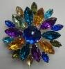 Acrylic Colorful Flower Broochs
