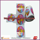 Roll packing custom sticker, adhesive sticker label with high quality