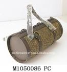 PU bamboo mat handbag