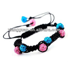 XG-OLK0335 Fashion Macrame DIY Pave Disco Ball Beads Rhinestone Crystal Bracelet 9mm