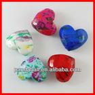 Printed Acrylic Heart Beads(MACR-R442-M)