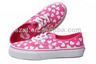 Lovely sweet heart-shaped canvas children sneakers shoes