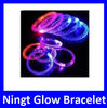Hot Selling EN71 Approved Luminous Cheap Acrylic Fluorescent Light Glow Bracelet with Shine Flour