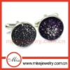 Crystal Pave Mens Cufflinks