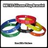 Fashion printing silicone plug bracelet/charms silicone bracelet