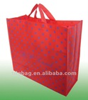 130gsm red non woven printed shopping bag