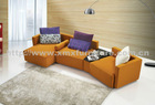 latest modern living room orange leisure corner leather/fabric sofa 2638