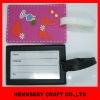 Fashion 3D Soft Pvc Luggage Tag