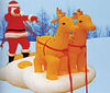 TOP quality inflatable santa clause with deer