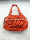 New pu women tote bag with fashion flower and diamond