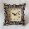 metal tabletop enamel clock with rhinestone