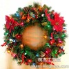 "24"" mix tip with adornment christmas wreath"