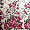 100% Polyester Printed Flannel Fleece fabric Flower Pattern Series