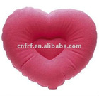 PVC red heart pillow