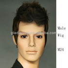 Male sythetic fiber wigs for head display on sale in Guangzhou