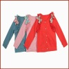 Bow Long Sleeve Colorful Cotton Autum Coats for Kids