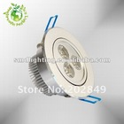 Free Shipping 3W Power LED Dimmable Ceiling Light Warm White