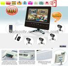 "9"" LCD h.264 4ch dvr combo cctv camera kit"
