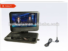 "9"" portable dvd player with tv"