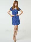 Fashion Short Sleeve Zip Dress for Ladies