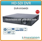 Professional Dual-core based 4 Channel HD-SDI 1080P 2U Standalone DVR, DVR-9104HDI