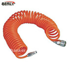 BellRight High Standard PU Spring Air Hose, Multi Color, with Standard Quick Coupling