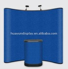 curved shape pop up display,pop up stand with 3*3/3*4 size