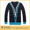 fashion design v neck sweater knitting pattern