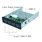 "3.5""/5.25"" internal aluminum USB 3.0 HUB 4port Supper Speed"