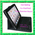 iPad bluetooth keyobard with PU case both for iPad and iPad2