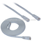 30m 100'ft FLAT Network Ethernet Cat5e Patch Cable Fly Lead Wire RJ45 RJ-45 Grey By PL