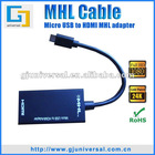 MHL micro usb to hdmi cable MHL adapter cable
