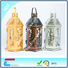 Decorative Gold Plated Metal Candle Lantern